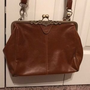 Handbags - Vintage leather brown purse